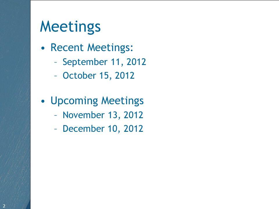 2 Free Template from www.brainybetty.com 2 Meetings Recent Meetings: –September 11, 2012 –October 15, 2012 Upcoming Meetings –November 13, 2012 –Decem