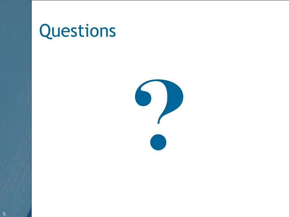 5 Free Template from www.brainybetty.com 5 Questions ?