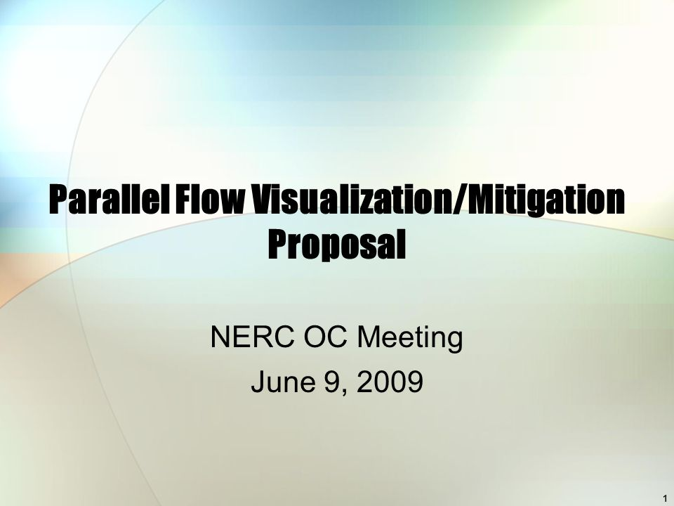 1 Parallel Flow Visualization/Mitigation Proposal NERC OC Meeting June 9, 2009