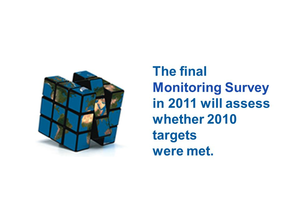 The final Monitoring Survey in 2011 will assess whether 2010 targets were met.