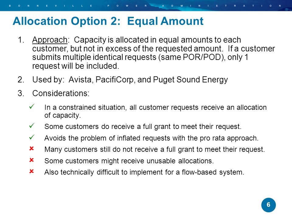 7 1.Approach: Provider makes full capacity offers in a random lottery order until there is no more capacity to offer.