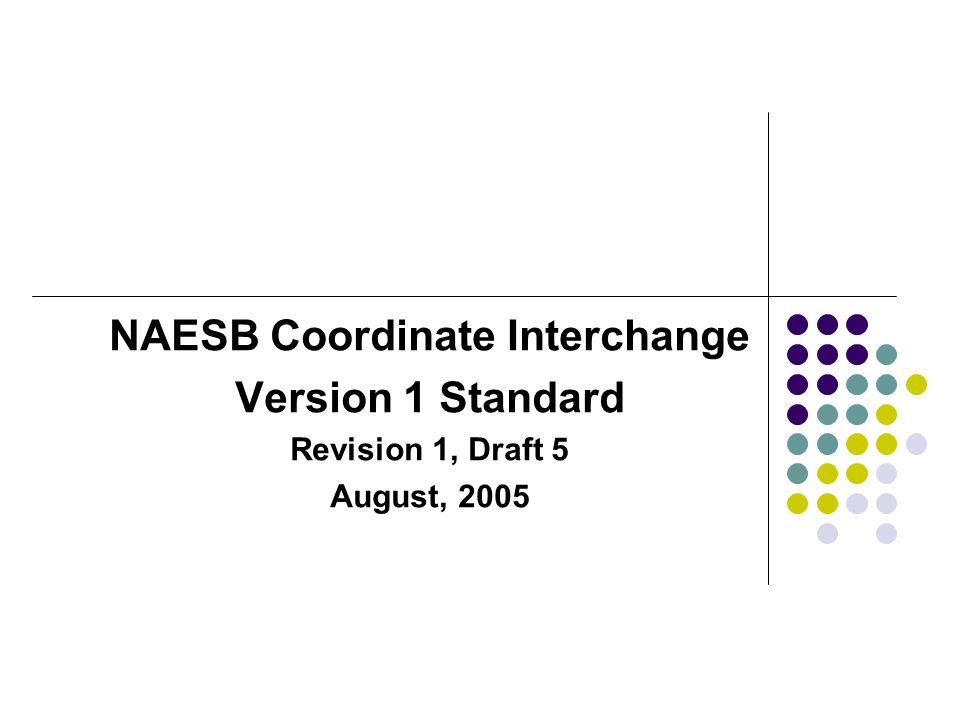 NAESB Coordinate Interchange Version 1 Standard Revision 1, Draft 5 August, 2005