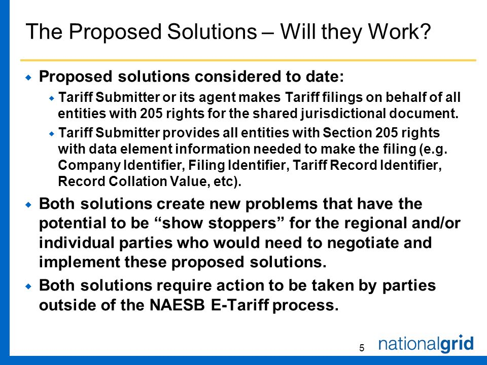 5 The Proposed Solutions – Will they Work.