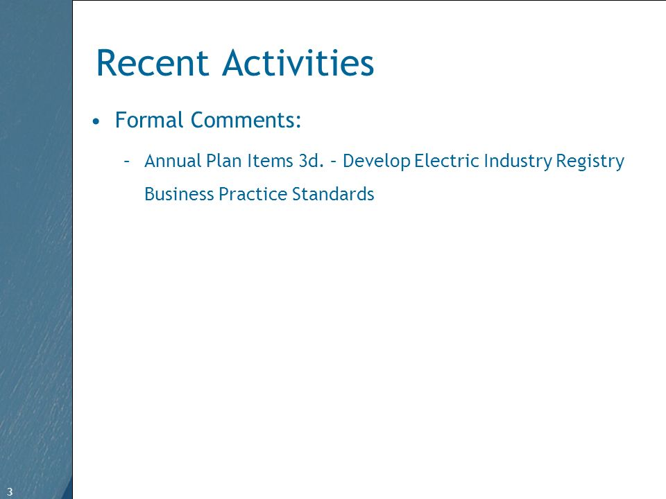 3 Free Template from www.brainybetty.com 3 Recent Activities Formal Comments: –Annual Plan Items 3d.