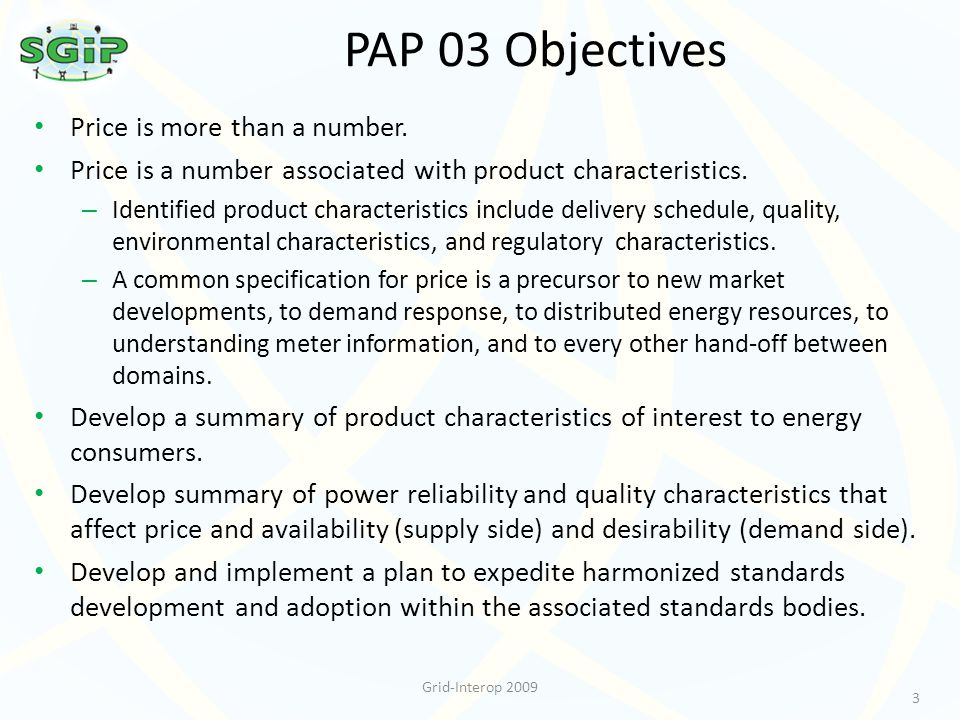 PAP 03 Objectives Price is more than a number.