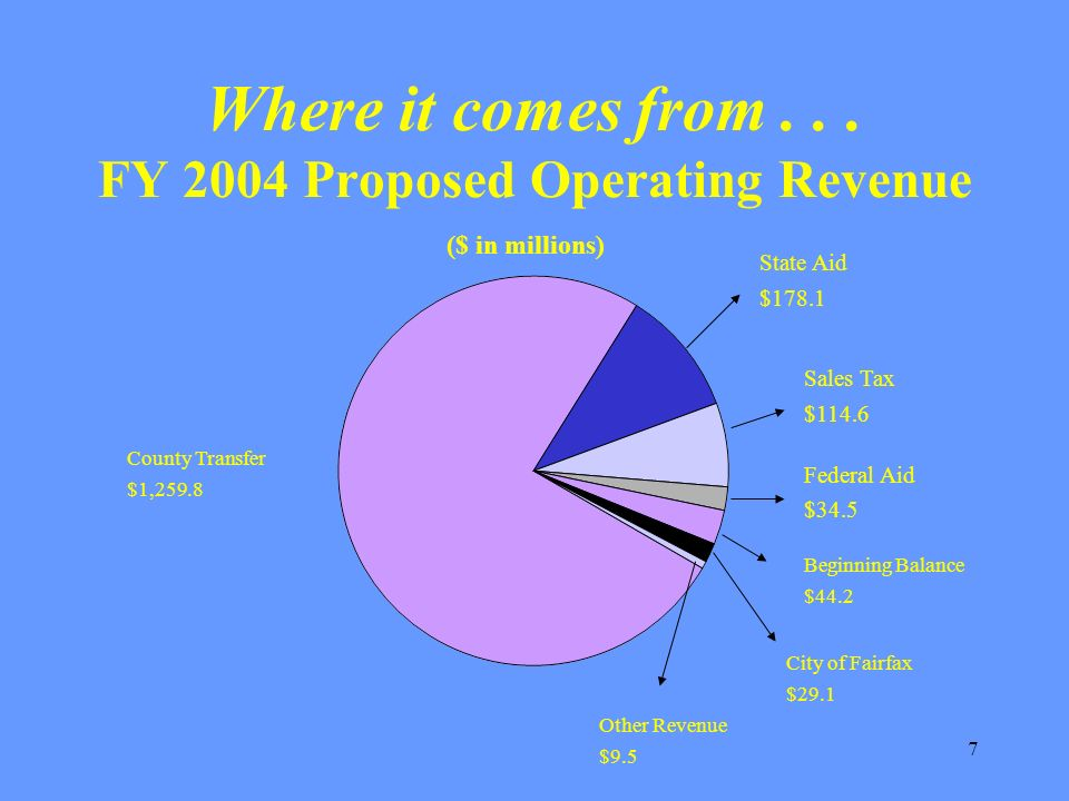 18 The FY 2004 proposed budget was balanced by cutting $19.0 million and 156.1 positions.