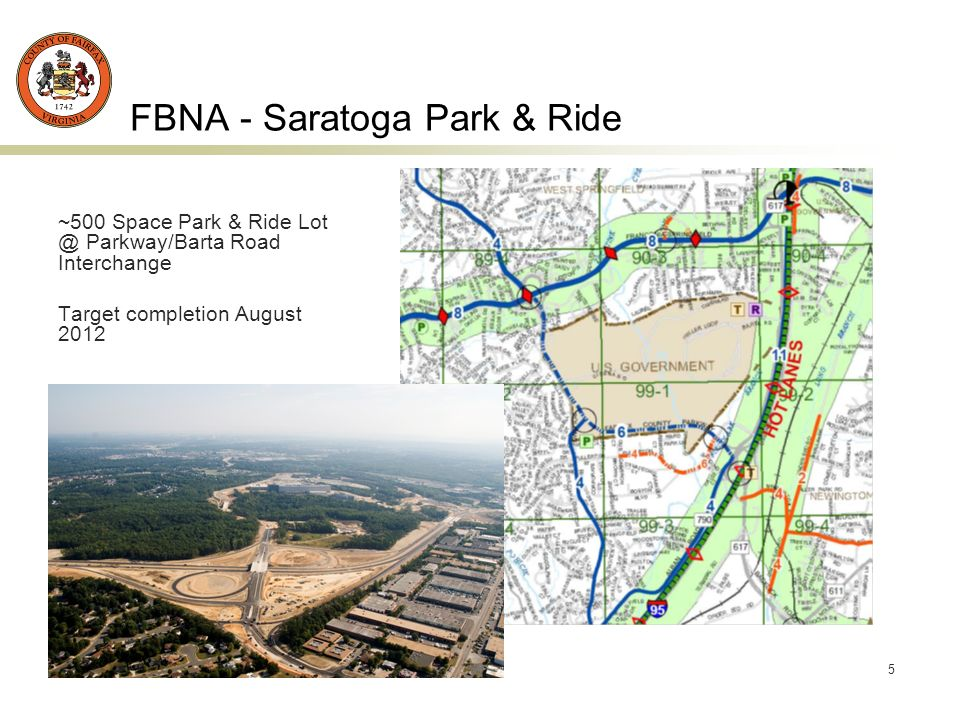 6 FBNA - Rolling Road Design Only - Fullerton to Delong Design Completion – Mar 2014 Begin Project End Project