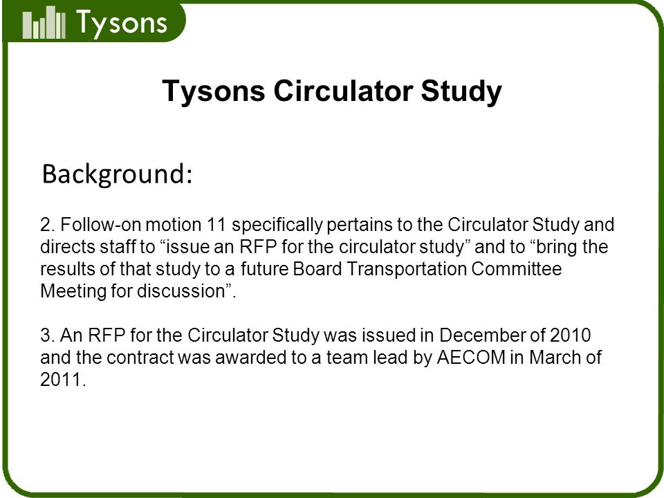 Tysons Tysons Circulator Study 2.
