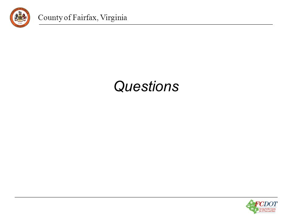 County of Fairfax, Virginia Questions