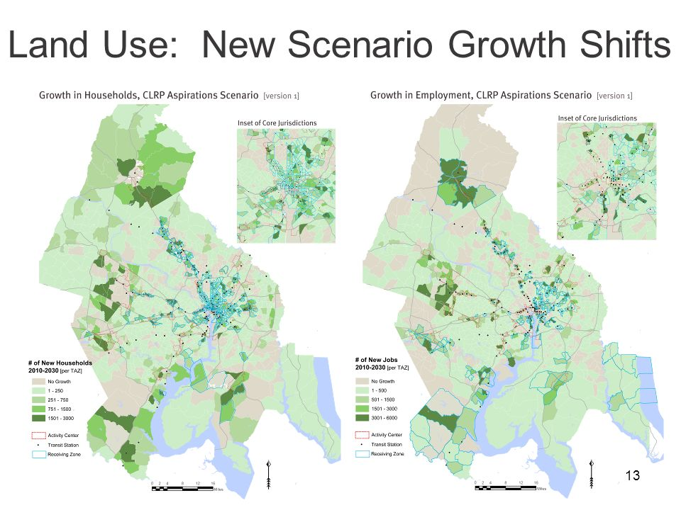 13 Land Use: New Scenario Growth Shifts