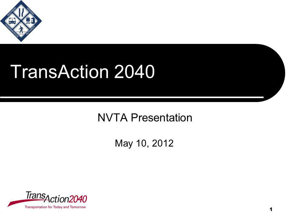 1 TransAction 2040 NVTA Presentation 1 May 10, 2012