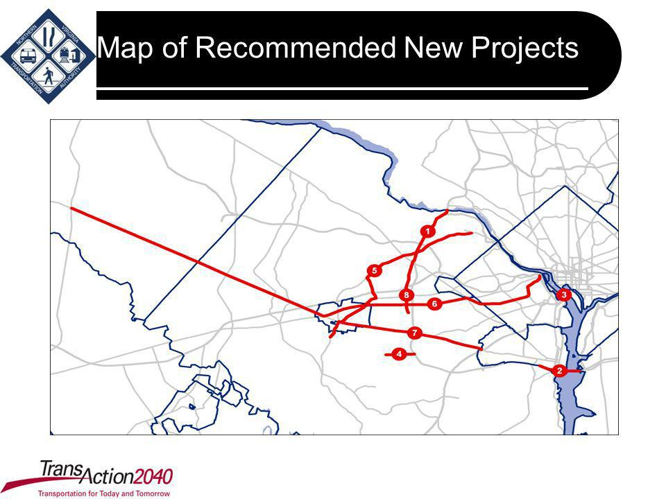 Map of Recommended New Projects