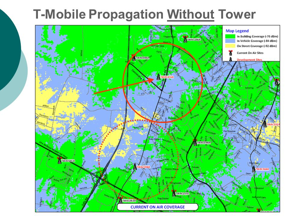 T-Mobile Propagation Without Tower