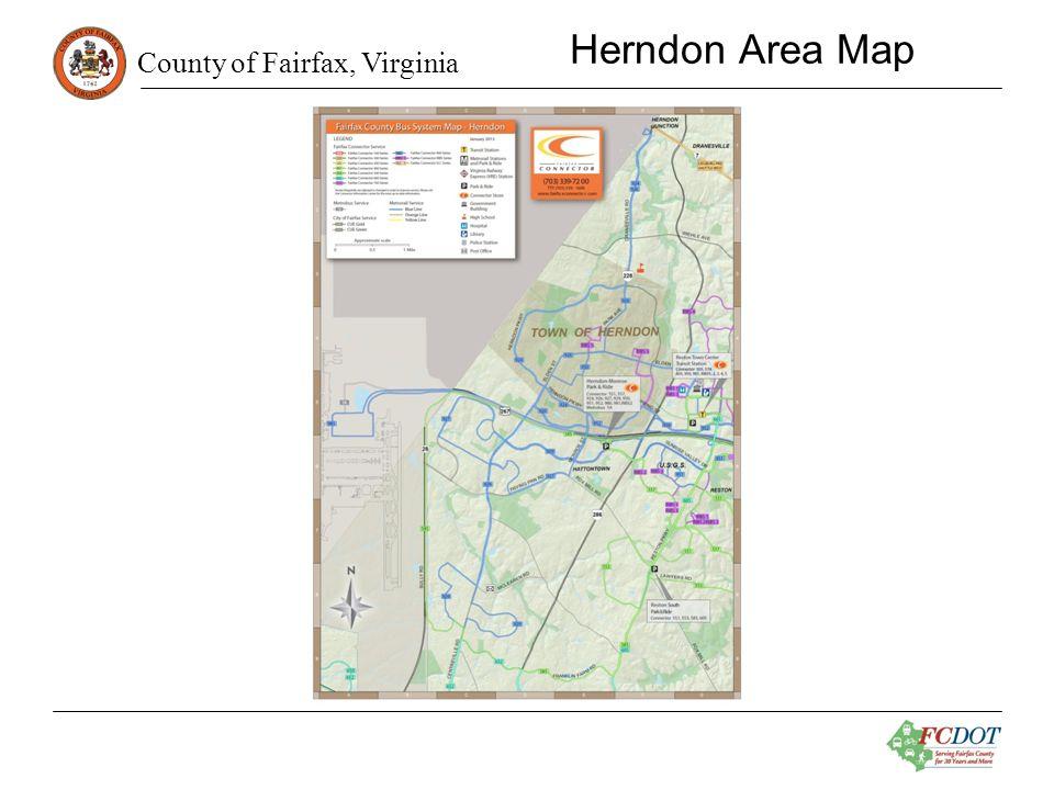 County of Fairfax, Virginia Herndon Area Map