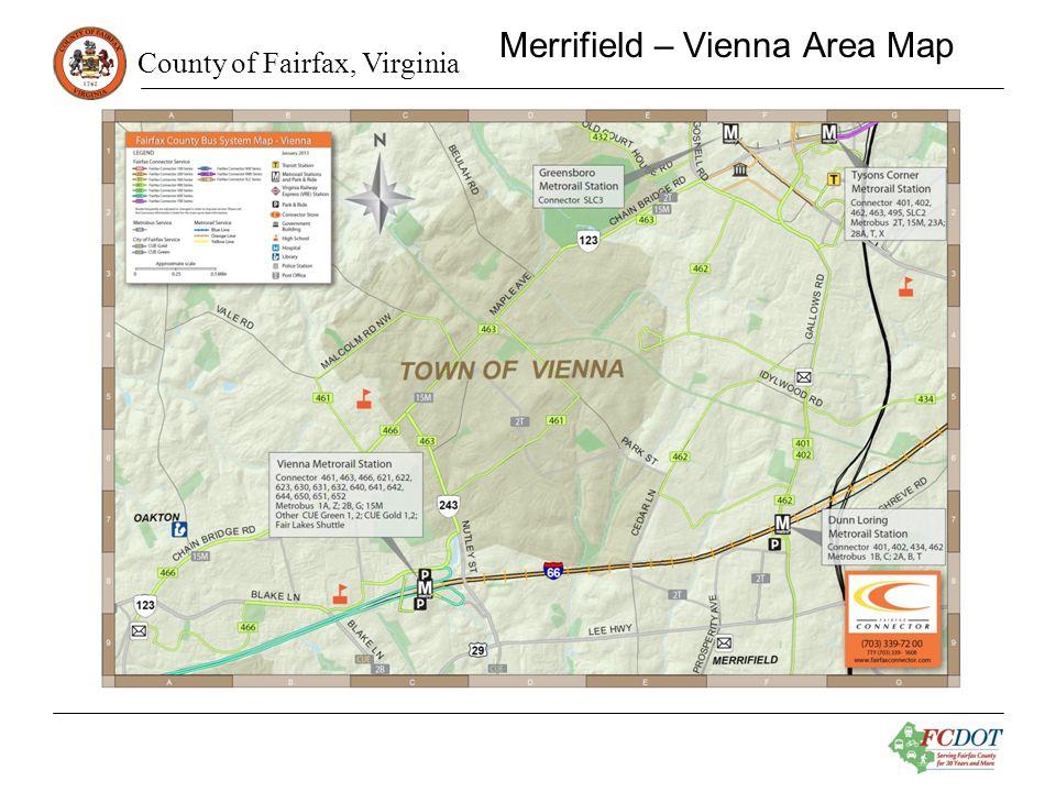 County of Fairfax, Virginia Merrifield – Vienna Area Map