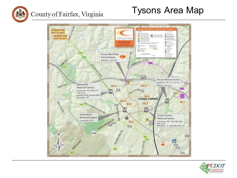 County of Fairfax, Virginia Tysons Area Map