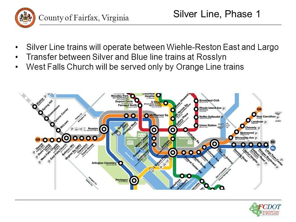 County of Fairfax, Virginia Tysons Area Routes Tysons –SLC 1 - McLean –SLC 2 - Tysons Corner –SLC 3 - Greensboro –SLC 4 - Spring Hill