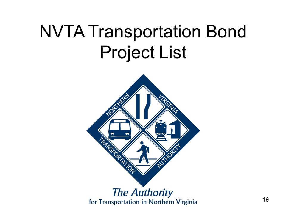 19 NVTA Transportation Bond Project List