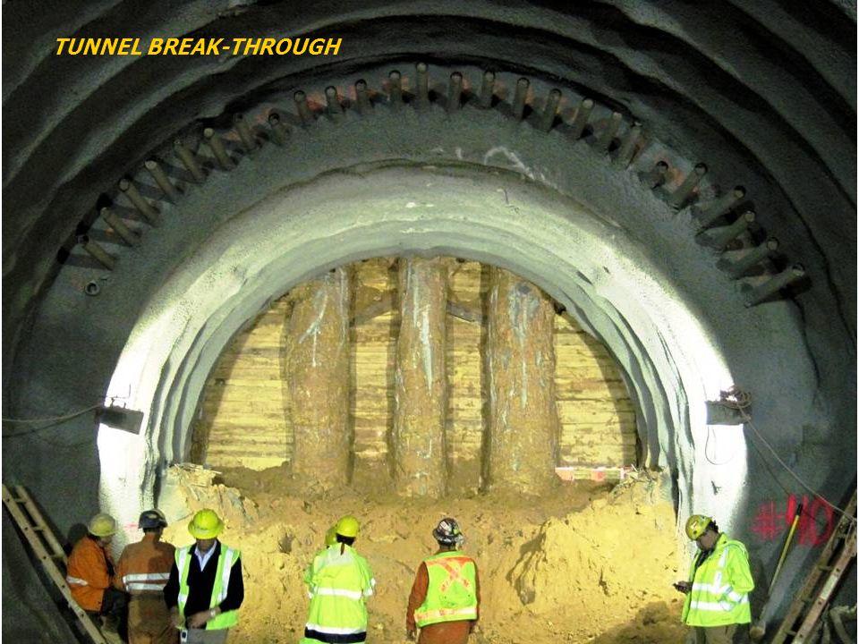 TUNNEL BREAK-THROUGH