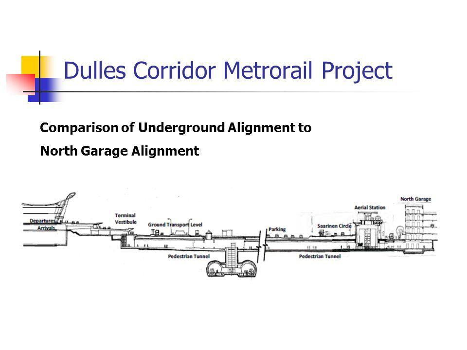 Comparison of Underground Alignment to North Garage Alignment