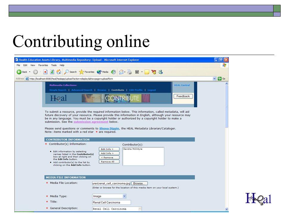 Contributing online