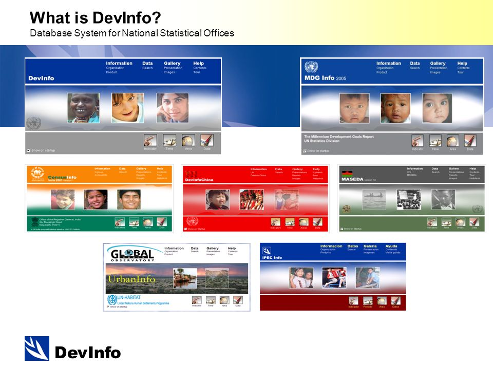 DevInfo What is DevInfo Database System for National Statistical Offices