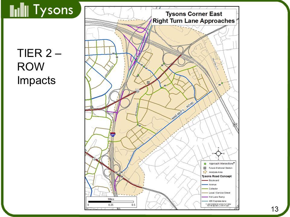 Tysons 13 TIER 2 – ROW Impacts