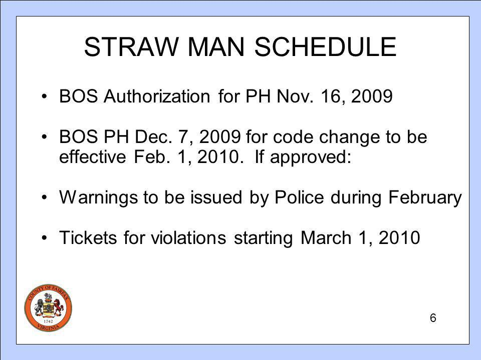STRAW MAN SCHEDULE BOS Authorization for PH Nov. 16, 2009 BOS PH Dec.