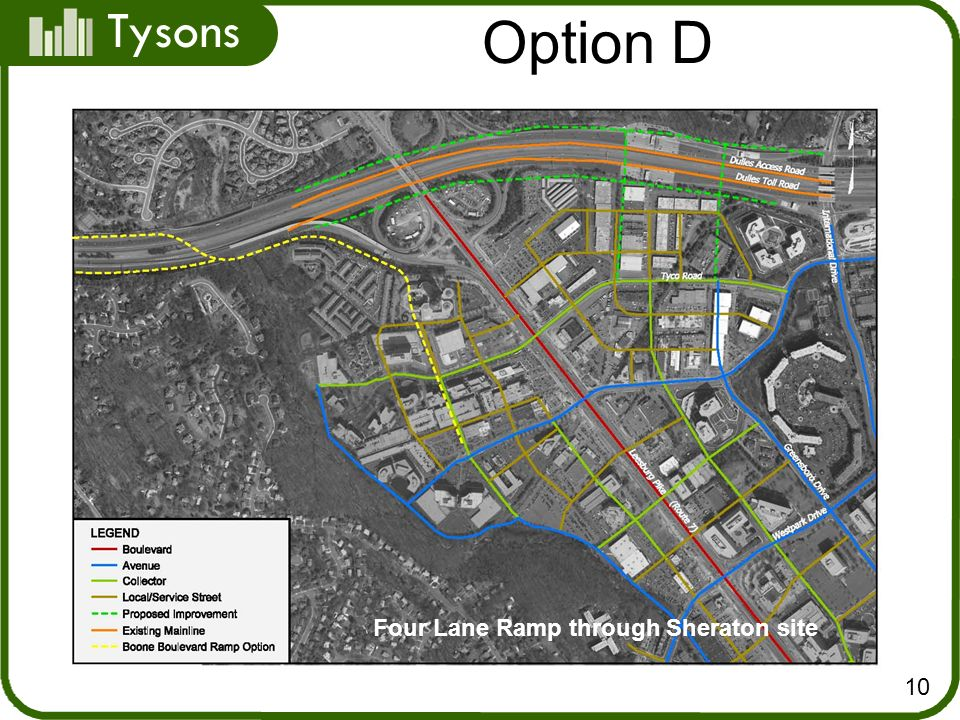 Tysons 10 Option D Four Lane Ramp through Sheraton site