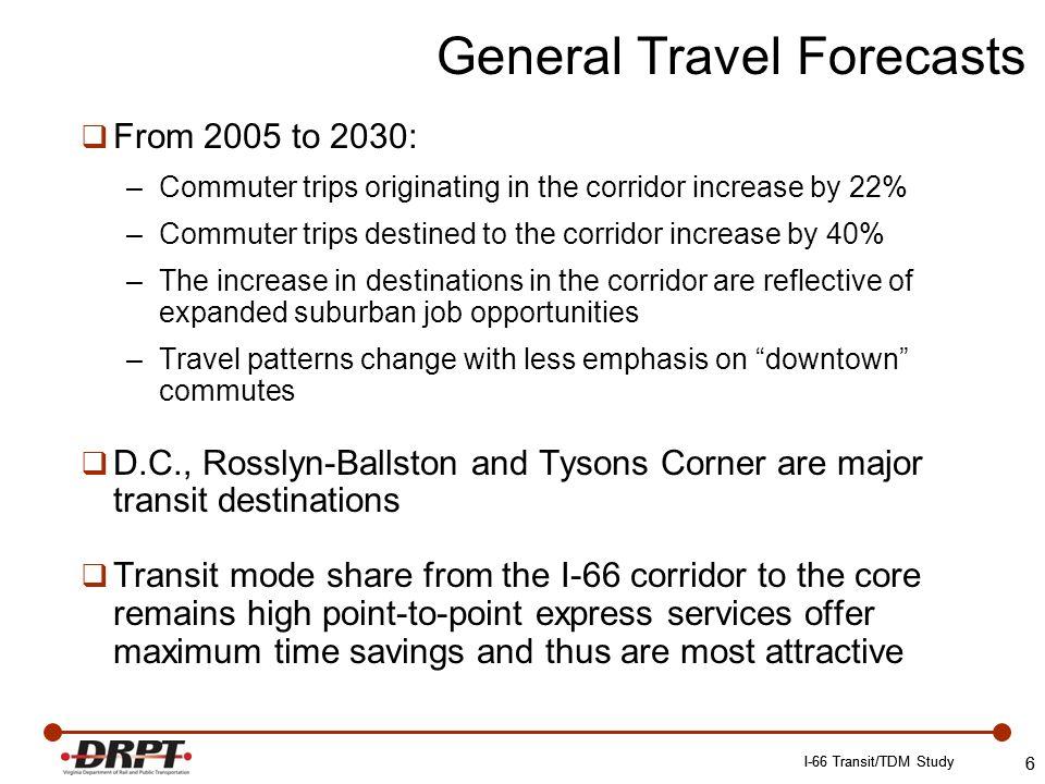 www.drpt.virginia.gov drptpr@drpt.virginia.gov 804-786-4440 17 I-66 Transit/TDM Study