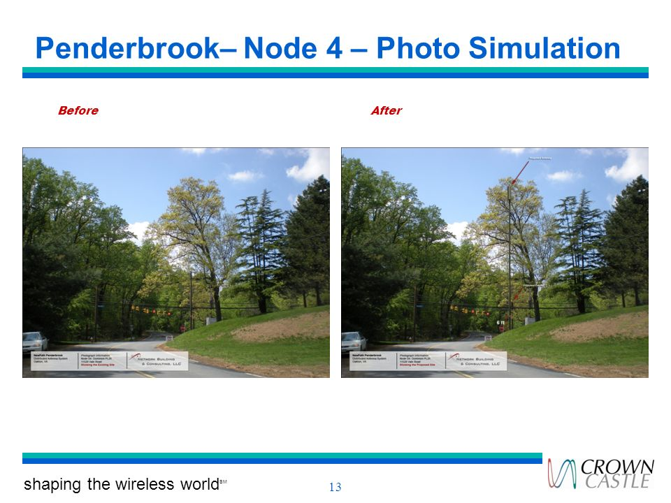 shaping the wireless world SM 13 Penderbrook– Node 4 – Photo Simulation BeforeAfter
