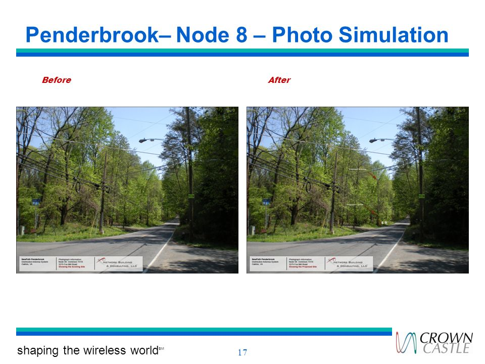 shaping the wireless world SM 17 Penderbrook– Node 8 – Photo Simulation BeforeAfter