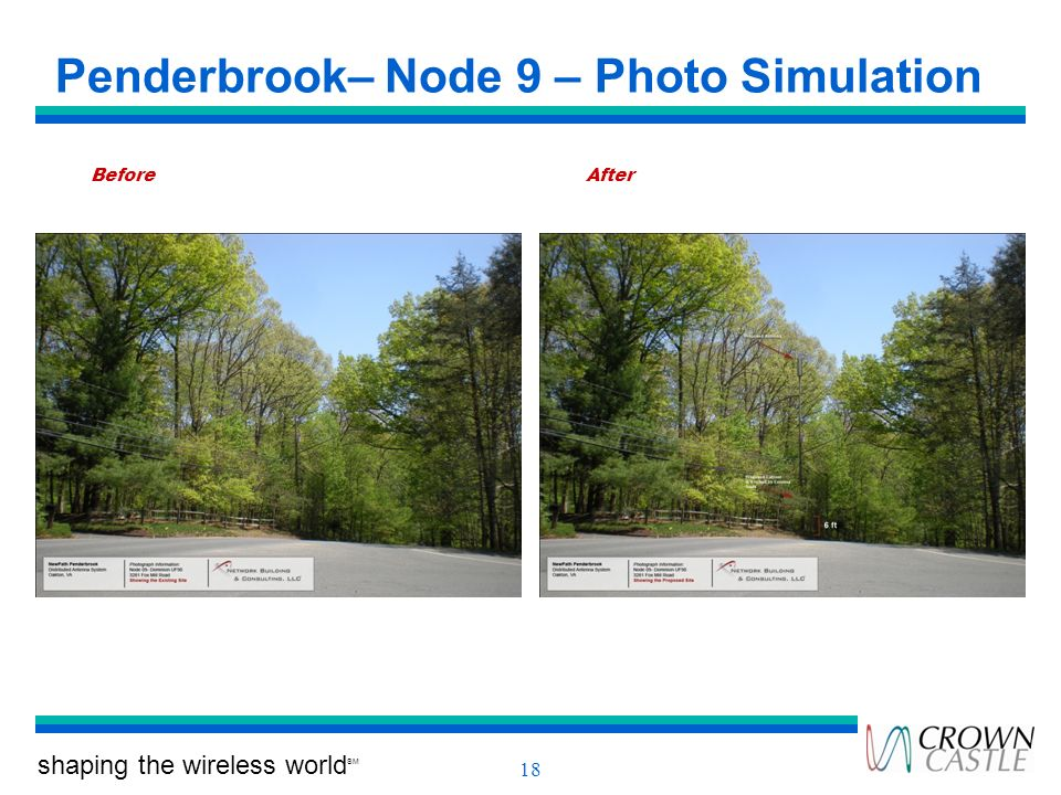shaping the wireless world SM 18 Penderbrook– Node 9 – Photo Simulation BeforeAfter