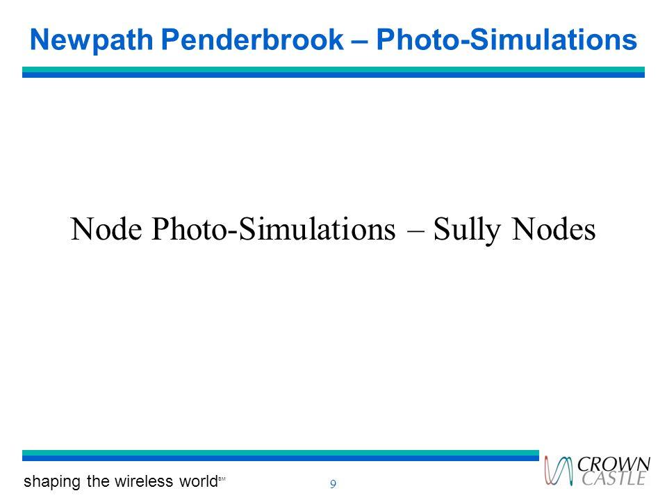 shaping the wireless world SM 9 Newpath Penderbrook – Photo-Simulations Node Photo-Simulations – Sully Nodes