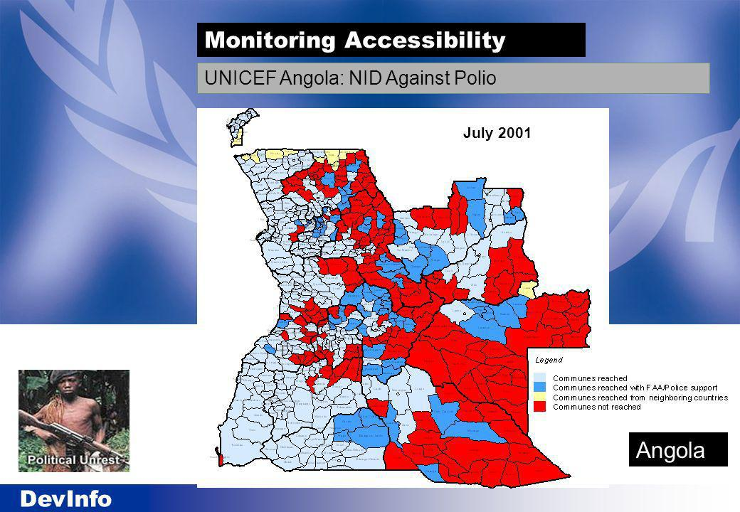 DevInfo UNICEF Angola: NID Against Polio July 2001 Monitoring Accessibility Angola