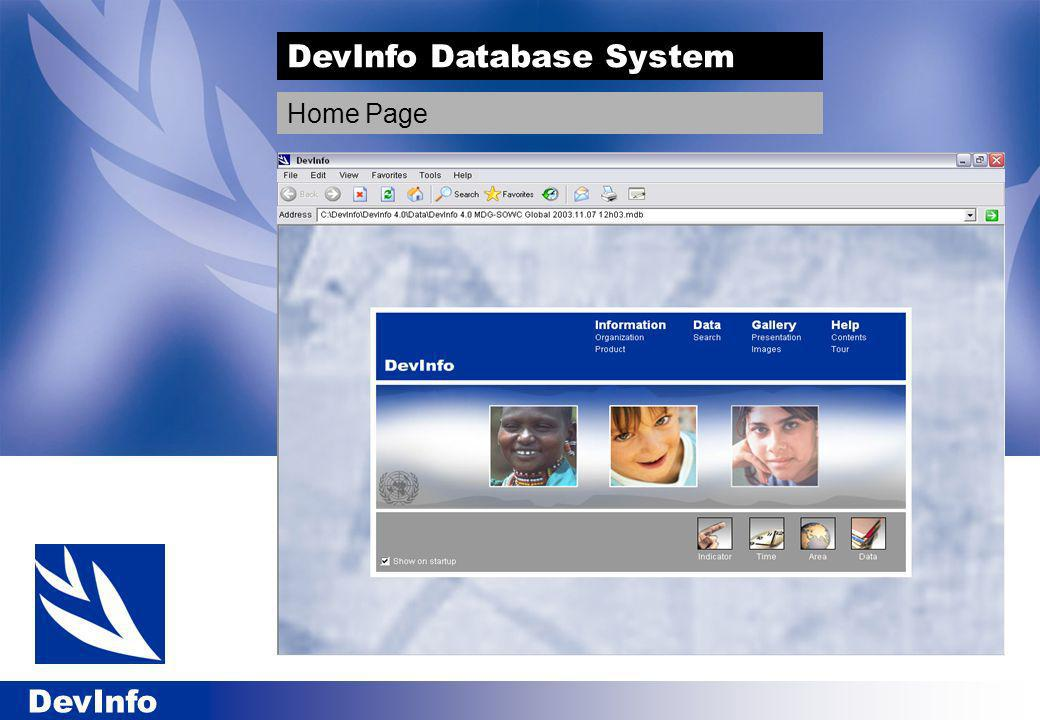 DevInfo DevInfo Database System Home Page