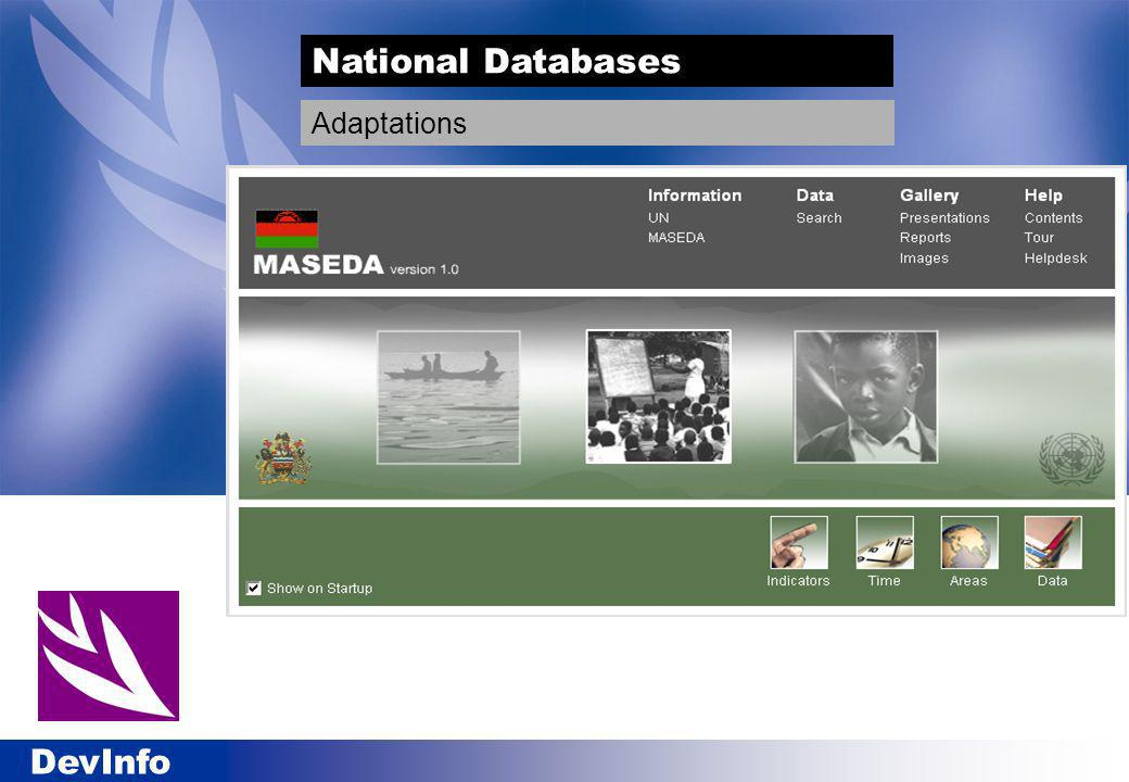 DevInfo National Databases Adaptations