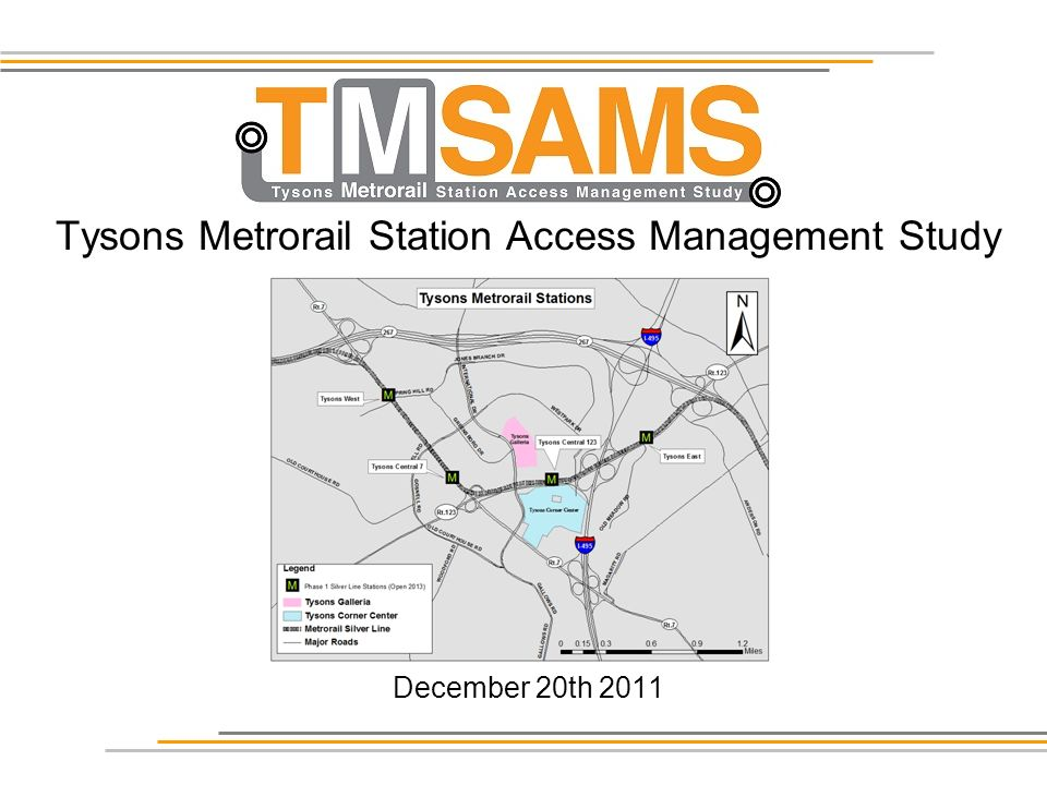 Tysons Metrorail Station Access Management Study December 20th 2011