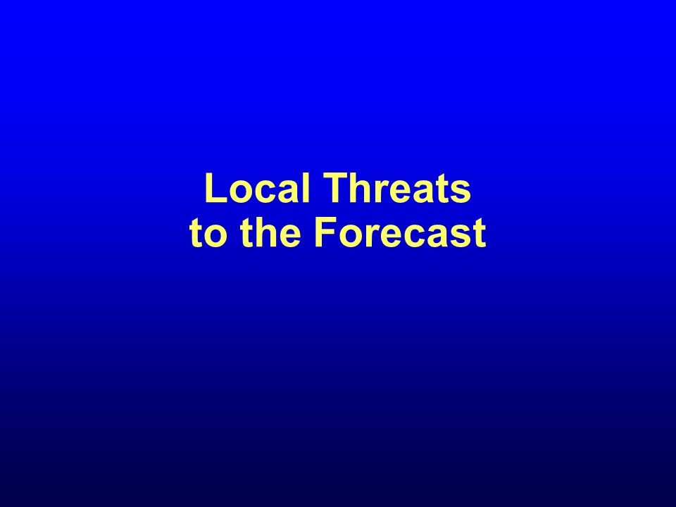 Local Threats to the Forecast