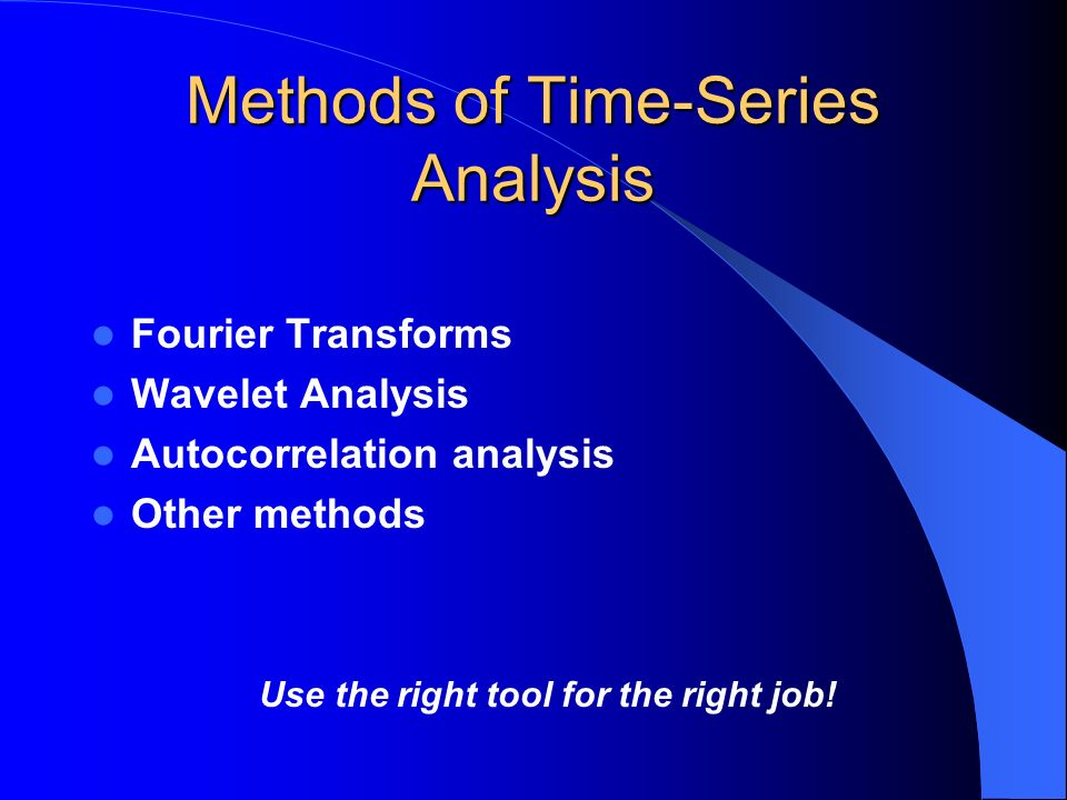 Fourier Analsysis: Basics Fourier analysis attempts to fit a series of sine curves with different periods, amplitudes, and phases to a set of data.