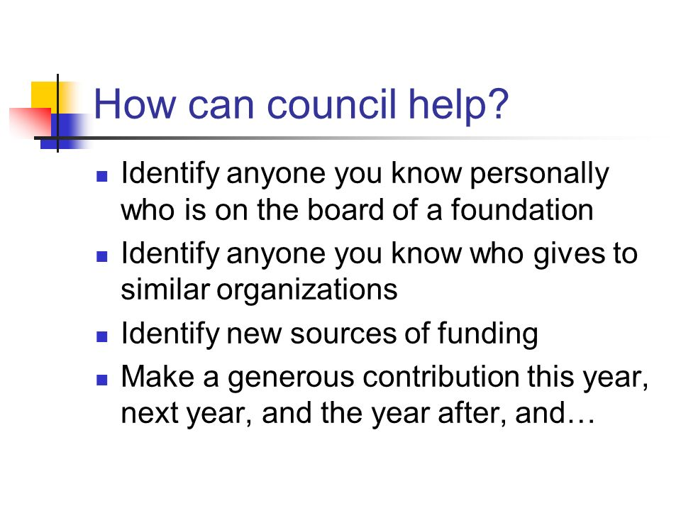 How can council help.