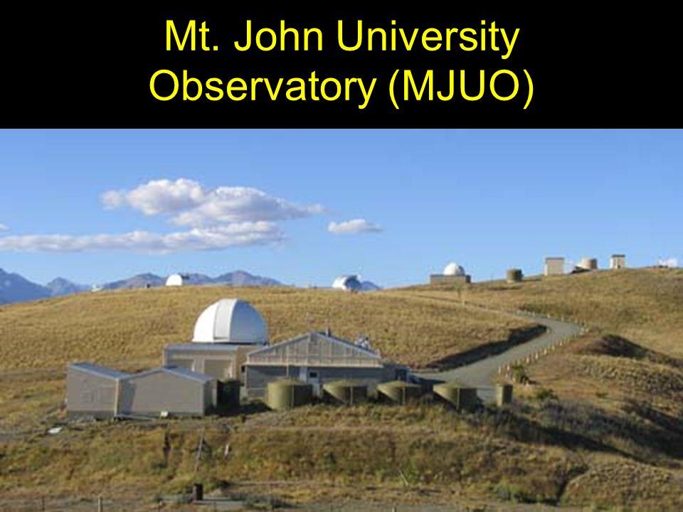 Mt. John University Observatory (MJUO)