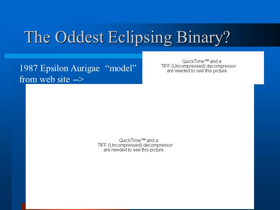The Oddest Eclipsing Binary? 1987 Epsilon Aurigae model from web site -->