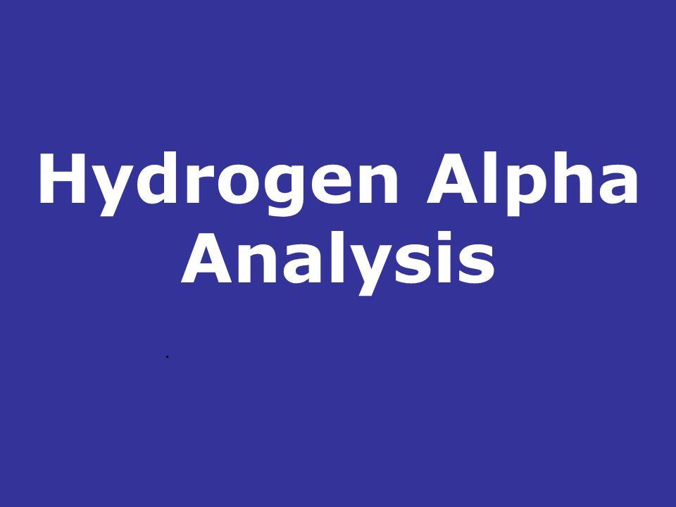 Hydrogen Alpha Analysis.