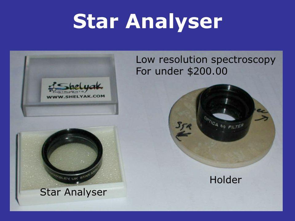 Star Analyser. Holder Star Analyser Low resolution spectroscopy For under $200.00