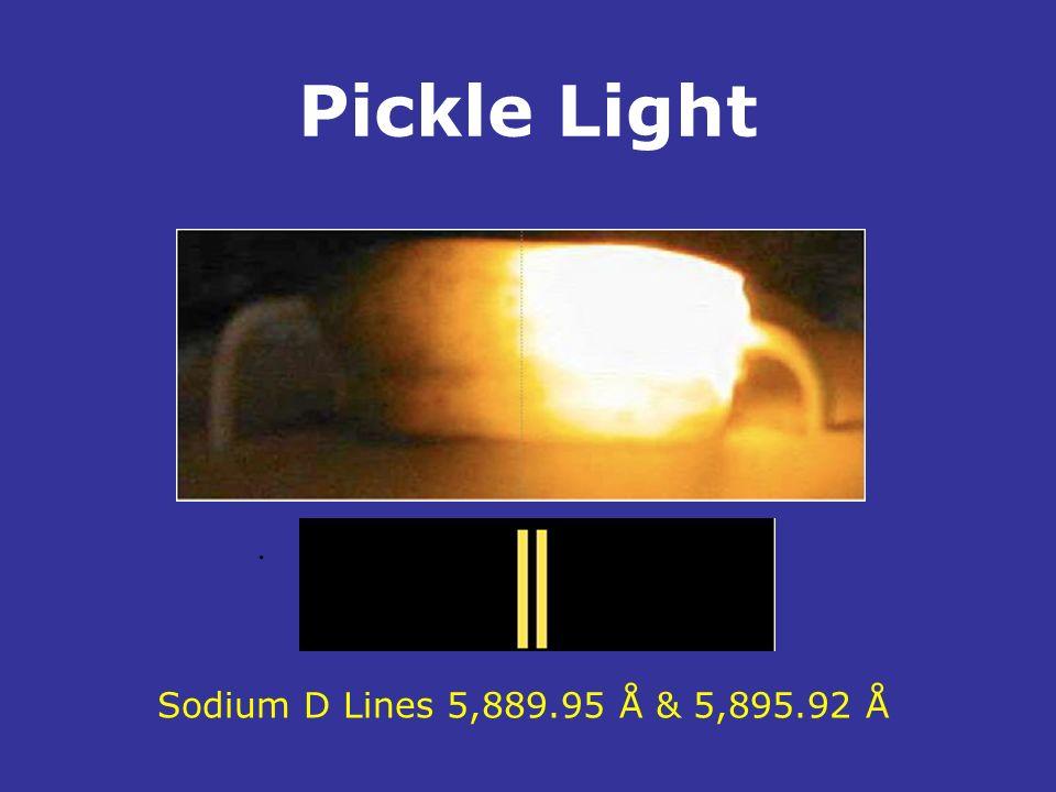 Pickle Light. Sodium D Lines 5,889.95 Å & 5,895.92 Å