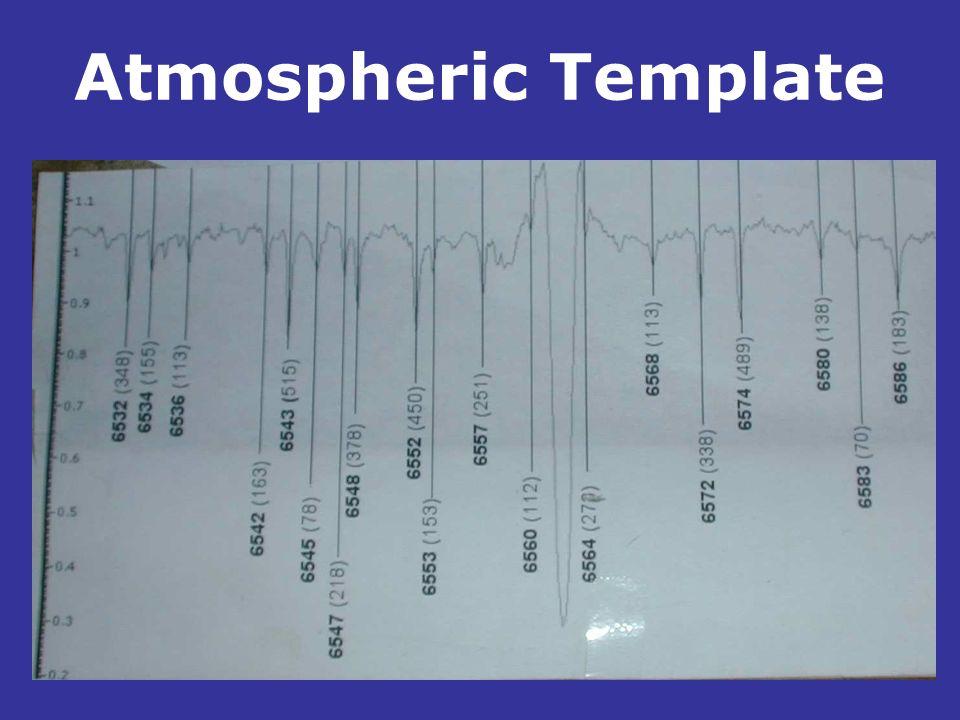 Atmospheric Template.
