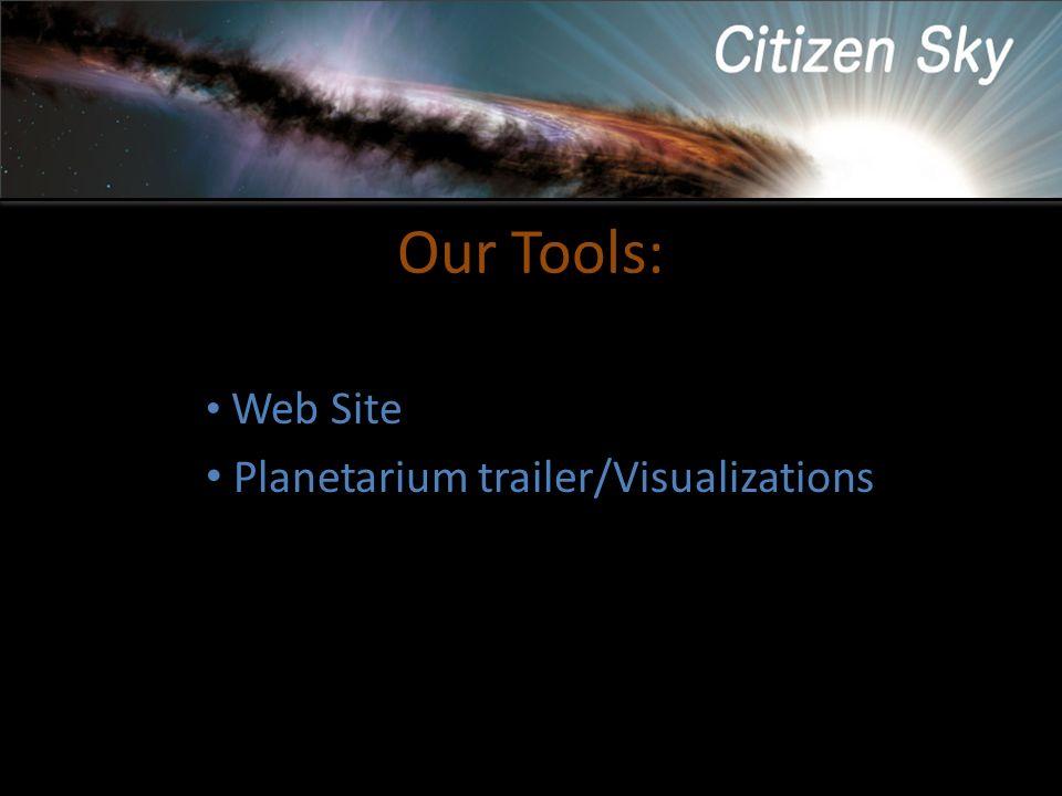 Our Tools: Web Site Planetarium trailer/Visualizations