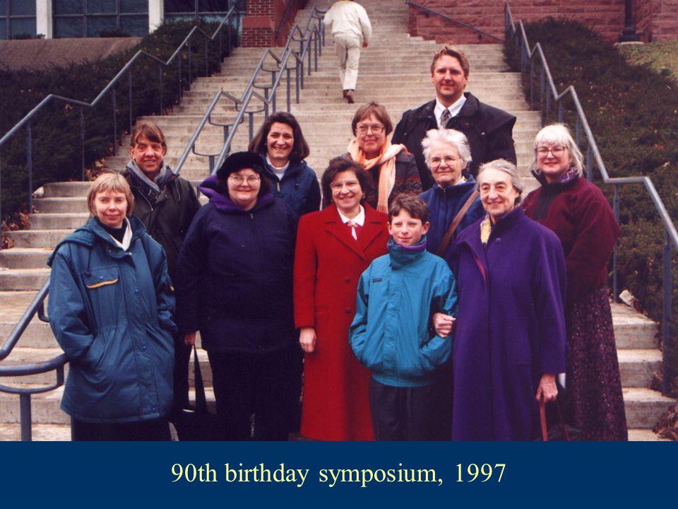 90th birthday symposium, 1997
