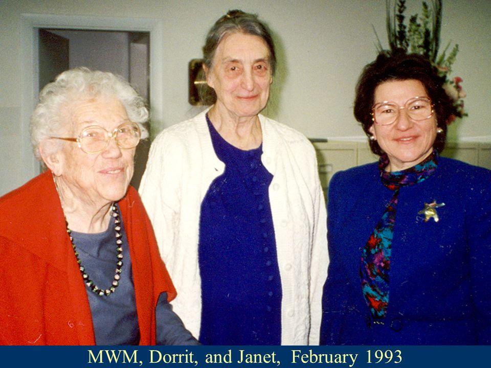 MWM, Dorrit, and Janet, February 1993